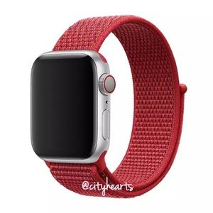 Accessories - NEW Solid Red Sport Loop BAND For Apple Watch